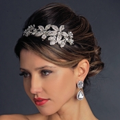 Rhodium Floral Headpiece 9931