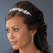 * Silver Pearl Bridal Headband HP 8241