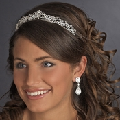 Silver Clear Rhinestone Bridal Headpiece Tiara 634