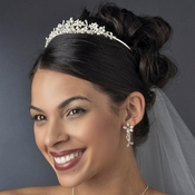 Freshwater Pearl and Swarovski Crystal Bridal Tiara HP 7048