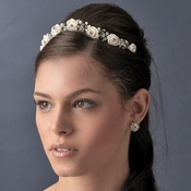 * Rose and Crystal Bridal Headpiece HP 2322