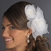 Sheer Flower Bridal Headpiece Comb 9956