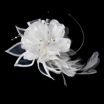 Ivory Side Accented Flower Bridal Headband HP 941