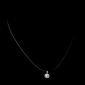 Silver Clear CZ Crystal Illusion Necklace 2000