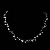 Silver Clear CZ Crystal Necklace 0112