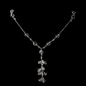 Silver Clear Swarovski Crystal Bead Necklace 2018