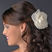 "5"" Bridal Flower Hair Clip or Clip Brooch 428 ( White, Ivory, Red, Black or Pink )"