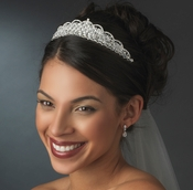 Swarovski and Rhinestone Bridal Tiara HP 6350 *** Discontinued***