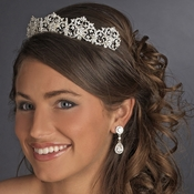 Beautiful Royal Bridal Tiara HP 630 Silver * 1 Left *