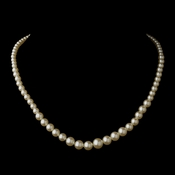 Gold Ivory Pearl Necklace 6021