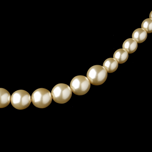 Gold Ivory Pearl Necklace 6031