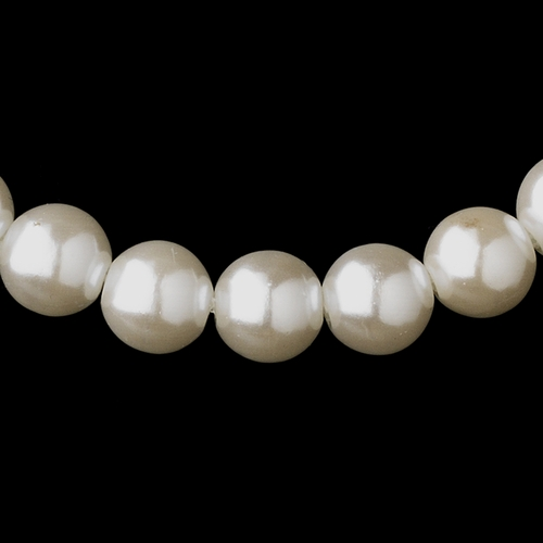 Silver White Pearl Necklace 6031