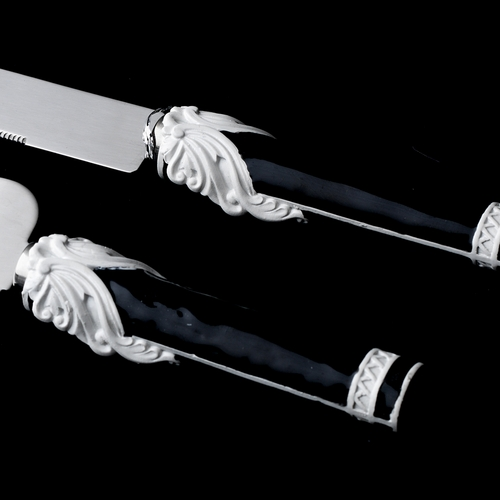 Fabulous Black & White Vintage Cake Server Set 1762***Discontinued***