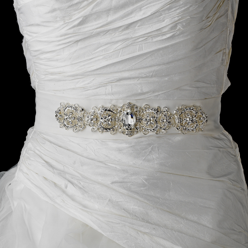 Wholesale Vintage Rhinestone Crystal Wedding Sash Bridal Belt 25