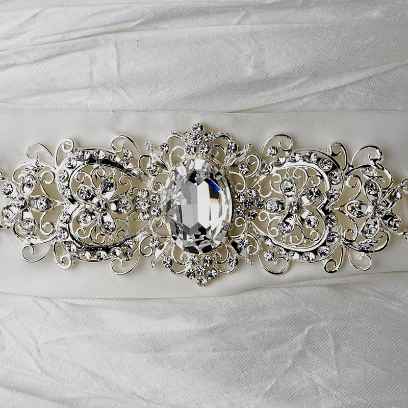 Wholesale vintage rhinestone crystal wedding sash bridal for Wedding dress belt sash