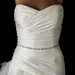 * Silver-Clear Rhinestone Square Pattern Wedding Sash Belt BELT 9015