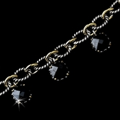 Rhodium Black w/ Gold Chain Links B 2700