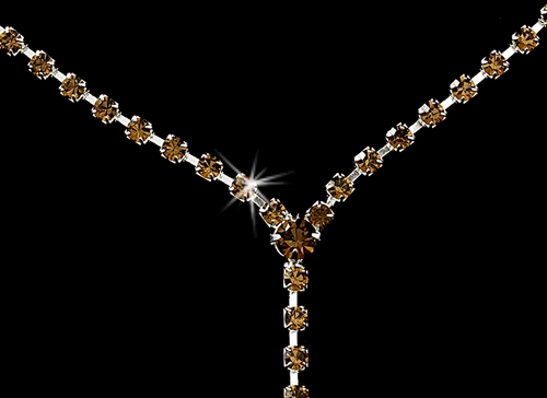 * Necklace Earring Set 313 Silver Brown