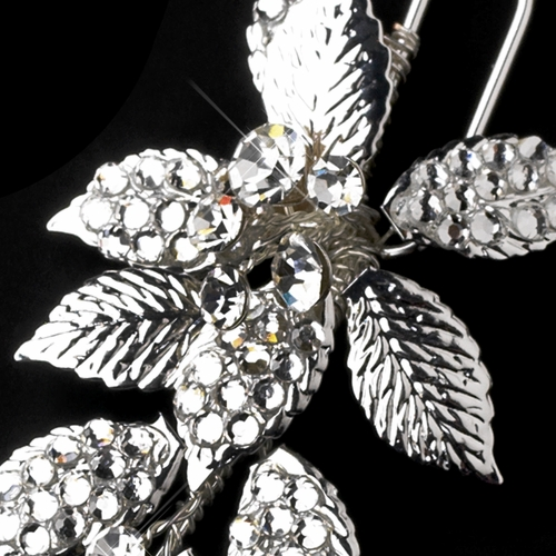 * Beautiful  Crystal Covered Couture Bridal Hair Pin 122