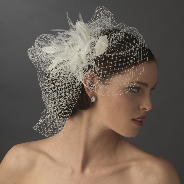 Feather Rhinestone Couture Feather Fascinator Amp Birdcage