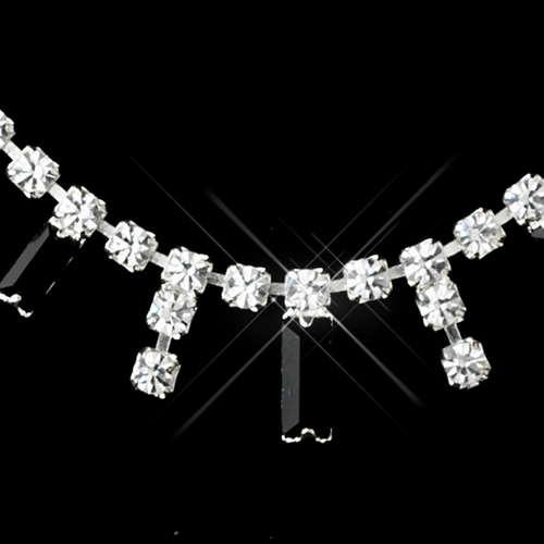 * Silver Black Necklace Earring Set 332 **Discontinued**