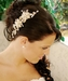 Stunning Gold & Pearl Bridal Side Comb 7822 Gold