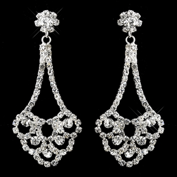 * Silver Clear Earrings 21767