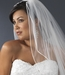 """2 Tier 25"""" and 30"""" Elbow Ratail Edge Bridal Veil (VR E)"""