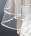 "* 1/8"" Satin Ribbon Edge Elbow Length Bridal Veil   (VS E 1/8)"