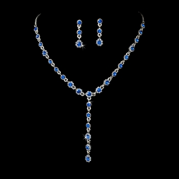 Necklace Earring Set 5790 Blue