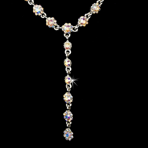 Necklace Earring Set 5790 Silver AB