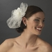 * Elegant  Ivory Flower Veiling Comb with Rhinestone & Pearl Attributes 8389