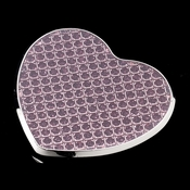 Pink Crystal Glitter Compact Heart Mirror 83621