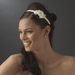 * Ivory Bridal Headband with Flower Side Accent HP 8392