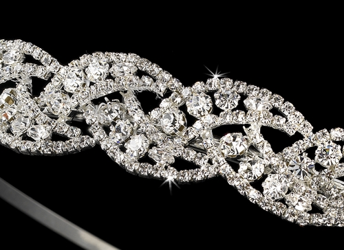 * Crystal Couture Bridal Tiara Headband HP-2876