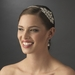 Silver Bridal Headband with Exquisite Rhinestone Vintage Side Accent - HP 8339