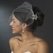 Bridal Couture Birdcage Veil Blusher with Simple Comb in White or Ivory 700