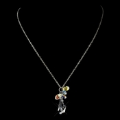 Silver Clear AB Necklace 8126