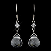 * Silver Clear Earrings 8269