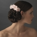 Charming Pink Flower Bridal Hair Comb 4647