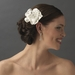 * Glamorous Bridal Flower Hair Comb w/ Clear Rhinestones 8416