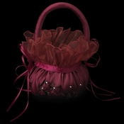 Flower Girl Basket 5 Burgundy