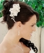 Elegant Crystal & Freshwater Pearl Bridal Comb or Brooch Clip 8151