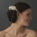 Chic Ivory Rum Rose Bridal Hair Comb 8418