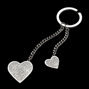 Crystal Glitter Double Heart Bridesmaids Keychain 3959