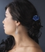 Teal Blue Glitter Crystal Bridal Hair Pin 900