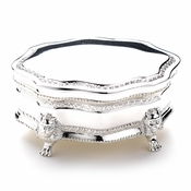 Silver Plated Small Victorian Jewelry Box 22021