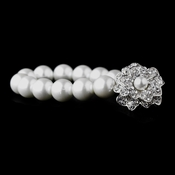 Bracelet 1023 Silver White or Silver Ivory