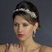 Antique Silver Clear Rhinestone Flower Rose Tiara Headpiece 865