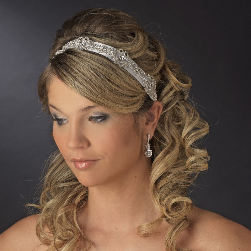 Silver Headband Headpiece 9854 White Or Ivory